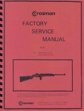 CROSMAN M-1 CARBINE BB GUN FACTORY SERVICE MANUAL M1 HANDBOOK