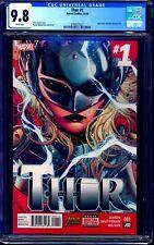 Thor #1 CGC 9.8 1st Jane Foster NEW Thor LOVE THUNDER MOVIE NM/MT 2014