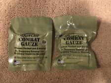Two (2) QuikClot Combat Gauze Military Vac Package Medic Trauma Emergency IFAK
