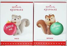Hallmark Nephew & Niece Cute Little Squirrel Ornament Set COMBINED SHIPPING