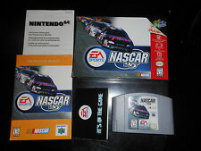 NASCAR 99 (Nintendo 64 1998) COMPLETE & TESTED-Game Cartridge-Box-Manual-Inserts
