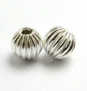 80 PCS 10MM ROUND SPACER BEAD STERLING SILVER PLATED 540 TDH-176