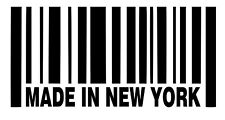 Made In New York Barcode Vinyl Sticker Decal NY - Choose Size & Color
