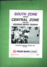 #Vv1. Rugby Union Program - Nz South Zone V Central Zone 10th May 1989