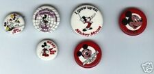 6 merry MICKEY MOUSE pins pinback buttons