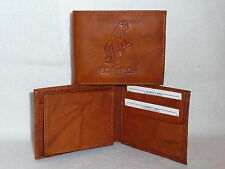 DENVER BRONCOS   Leather BiFold Wallet   NEW   brown 4