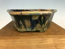 Unique Glaze Bonsai Tree Pot By Fugushige Bushuan 9� Great Pot