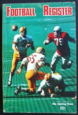 1971 SPORTING NEWS FOOTBALL REGISTER - SONNY JURGENSEN REDSKINS BOB GRIESE MIAMI
