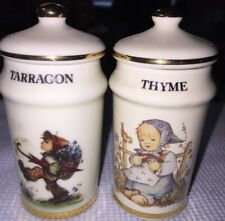 Tarragon & Thyme Spice Jars Mint M.J. Hummel Switzerland 1987 More Available