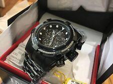 23916 Invicta 52mm Bolt ZEUS COMBAT BLACK Swiss Quartz Black SS Bracelet Watch