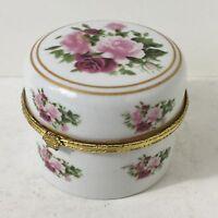 Ancienne Boîte Movitex Ton Floral Rose H 6 D 8 Cm Voir Photos