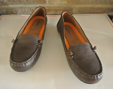 NEW Eddie Bauer womens loafers slip on brown Leather comfort shoe flats Sz 8 $70