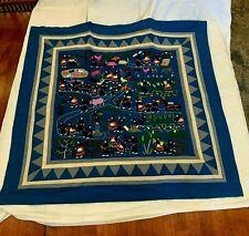 Hmong Paj Ntaub Culture Panel Story Cloth Scene Hand-Made Embroidery Wall Art