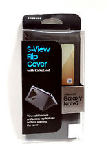 (LOT OF 100) S-View Flip Cover Case With Kickstand Samsung Galaxy Note 7 Black