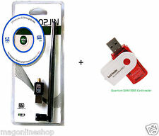 Quantum QHM5085 Card reader +600 mbps wireless wifi Antenna LAN adapter anteena