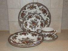 WEDGWOOD CHINA ASIATIC PHEASANTS BROWN MULTI COLOR 5 PC SETTING