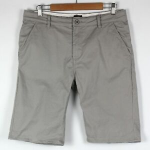 Riders by Lee Men's Chino Shorts Sz 34 Beige Stretch Cotton Zip Fly Above Knee