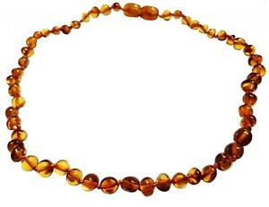 CERTIFIED 100% Genuine Baltic Baroque Baby Amber Beads Necklace - UK Distributor