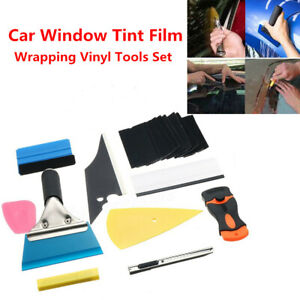 Car Trucks Window Tint Film Wrapping Vinyl Tool Squeegee Scraper Applicator Kit