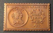 1800 United States Draped Bust 1/2 Half Cent Numistamp Large Medal 1976 Reed
