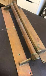 Reclaimed Brass Large Pair Of Door Handles-Door Bar