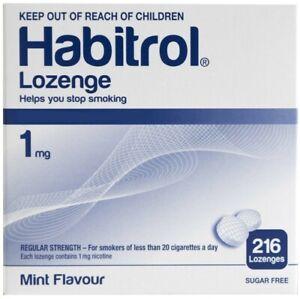 Habitrol Nicotine 1mg Lozenge Mint Flavor Bulk box 216 pieces