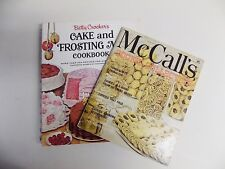BETTY CROCKER'S CAKE AND FROSTING MIX COOKBOOKANDMcCALL'S COOKIE COLLECTION