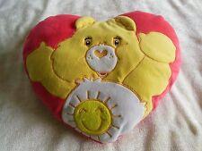 Vintage Care Bears Funshine Heart Pillow