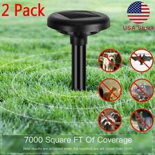 2 Pack Repelente Ultrasónico energía solar al aire libre Animal Plagas Ratones Bird Serpiente Chaser