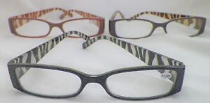 Georgio Caponi Animal Print Reading Glasses WLZR1 Assorted Powers