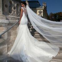 Hochzeit Brautschleier Schleier Braut weiß od creme weiß/ivory 3 Meter C036_03