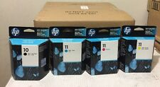 HP 10/11 Black & Colors Ink Cartridge Set C4844A C4836A/37A/38A Expired 2012