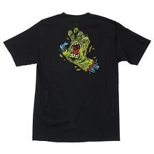 Santa Cruz Rob Roskopp Rob Hand Skateboard T Shirt Black Medium