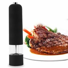 New Electric/Manual Salt Spice Pepper Herb Mills Grinder with LED Light Black