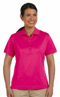 Devon & Jones Women's New Casual 100% Cotton Short Sleeve Polo Shirt Tee. D440W