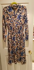 M&S Floral Midi Dress Size 10 Worn Once