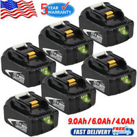 6.0Ah 18V Lithium Ion Battery For Makita LXT BL1890 BL1860B BL1850B BL1830B LED