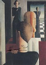 Tarjeta de arte: Oskar Schlemmer-cuatro personajes en el espacio