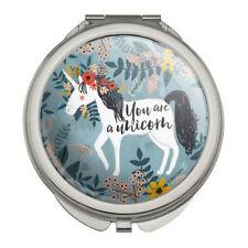 You are a Unicorn Unique Flowers Compact Travel Purse Handbag Makeup Mirror