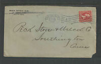 1899 BOX STAY CO BOSTON MASS ADVERTISING COVER          OVAL BOSTON CANCEL