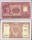 100 Lire 1951 Di Cristina - Cavallaro - Parisi BB+