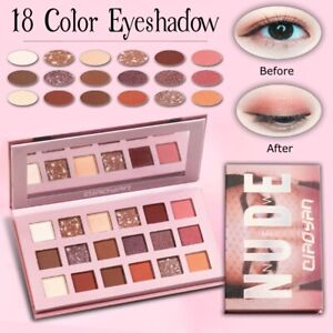 New 18 Colours Professional High Quality Eye Shadow Palette Make Up Cosmetics UK