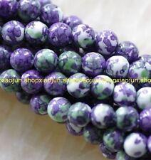"""Natural purple 8mm Rainbow Jasper gemstone loose beads 15"""" ##MJ065"""