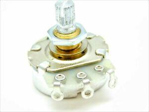 Alpha A25K Full Quarter Size Brass Short Shaft Control Pot Potentiometer