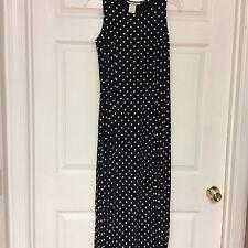 Sarah Richards Ladies Dress Size 9-10 A-Line Blue White Polka Dots Y10