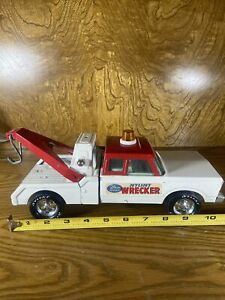 VINTAGE 1970'S FORD CHEVY NYLINT 24 HR TOW TRUCK, WRECKER PRESSED STEEL, USA