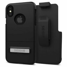 OEM Seidio Surface Combo Holster & Case Cover For Apple iPhone X 5.8'' Black