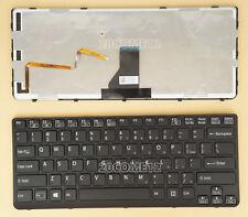 FOR SONY VAIO SVE141390X SVE14112FXB SVE14114FXB Keyboard US backlit Frame Black
