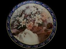 "Collector Plate W S George ""Lilies"" Lena Liu'S Basket Bouquets"