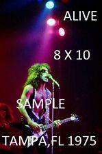 Kiss 1975 Paul Stanley 8 X 10 Color Photo 6 Tampa,FL